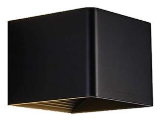 Luminaria Aplique Led Integrado Cálido 6w Negra Unilux