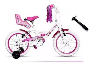Bicicleta Bmx Princess Top Mega Rodado 16 Niña + Regalo!!!