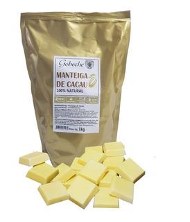 Manteiga De Cacau Pura E Natural Gobeche - 1kg - Comestível