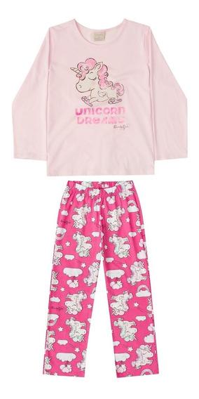 Pijama Blusa E Calça Meia Malha Mãe E Filha Quimby