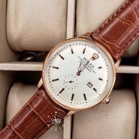 Reloj Rolex Hombre Cuero Clasico Aa