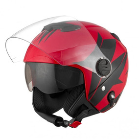 Capacete Tork New Atomic Superbike Sb3 Vermelho Preto 60/l