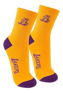 Meia Cano Médio Nba Los Angeles Lakers 39/43 - Amarela Com R