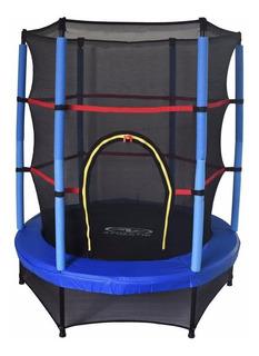 Trampolin Para Niños Brincolin Y Malla 1.40 M. Athletic Azul