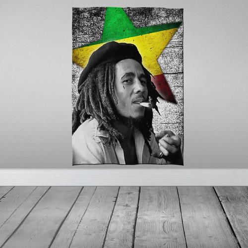 Imagem 1 de 3 de Stompy Bandeira Decorativa Decoração Bob Marley Weed Smoke