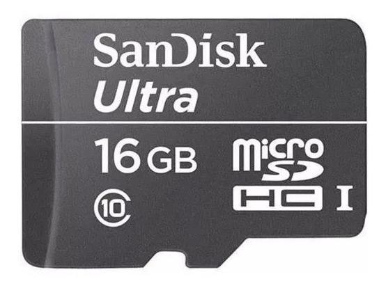 Cartão Memoria Micro Sd 16gb Box Classe Scandisk