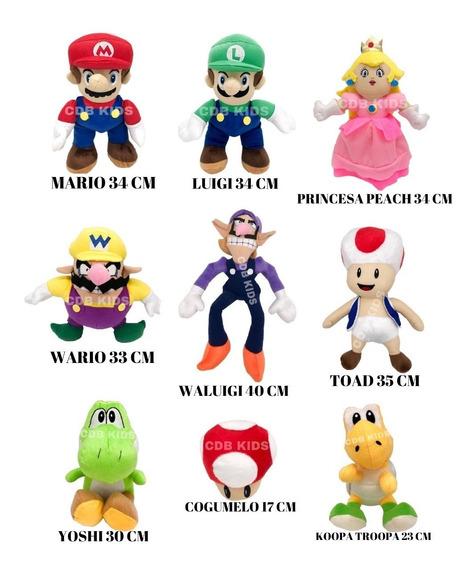 Pelúcias Turma Do Mario 6 Personagens