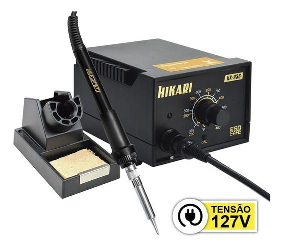 Estação De Solda Analógica Hikari Hk-936 Esd 127v Garantia 2