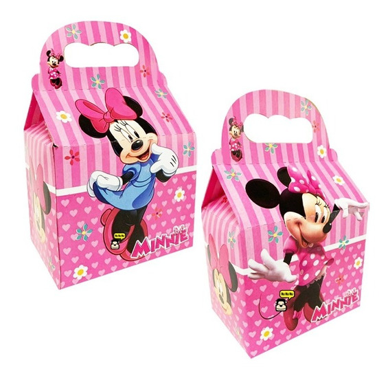 Minnie Mimi Mouse Caja Dulcera 10 Piezas Todo Para Tu Fiesta