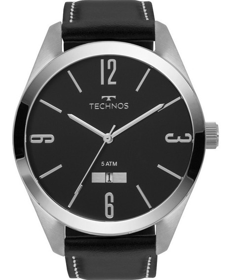 Relógio Technos Masculino Analógico Classic Steel Couro