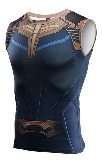 Camisa Compressão Thanos Pronta Entrega