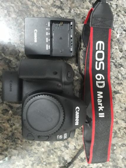 Canon 6d Mark Ii 800 Cliques + Flash + Sd 64gb + Baterias Reservas