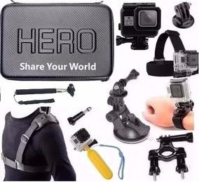 Kit Gopro Hero 5 Hero 6 Case Caixa Estanque + Backdoor
