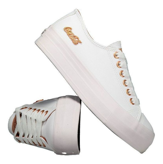 Tênis Coca Cola Basket Floater Plataforma Feminino Branco