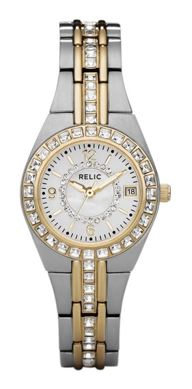 Reloj Dama Relic Queens Court Zr11775 Color Plateado-dorado