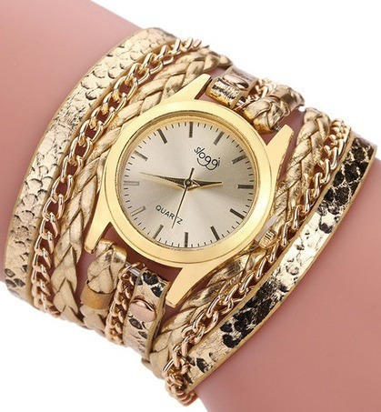 Relógio Feminino Bracelete Cores Pulseira Couro Frete Grátis