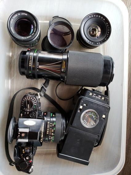 Câmera Canon A1 + Lentes E Flash