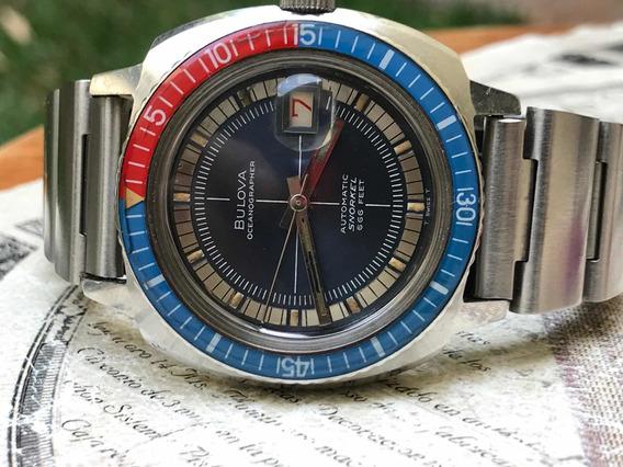 Reloj Bulova Oceanographer Snorkel 666 Diver Buzo Vintage