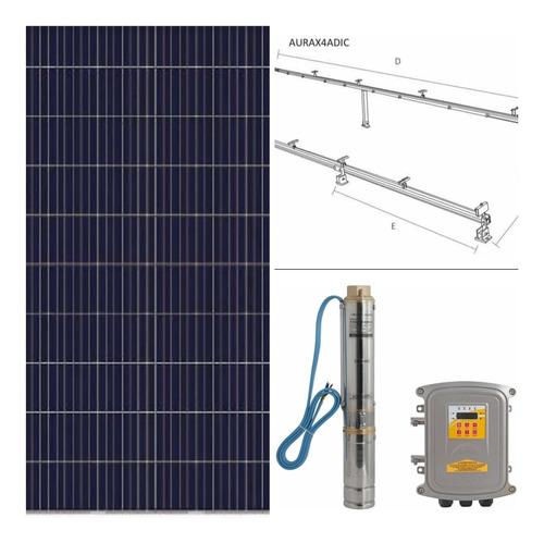 Imagen 1 de 8 de Kit De Bomba Solar Kolos4-112-130-11 + 8 Panel + 2 Bases Aur