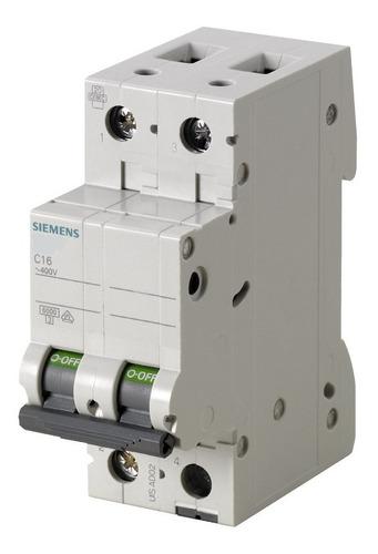 Breaker Ac/dc Siemens 2polos 6a-63a, 400vac/144vdc