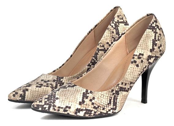 Zapatos Stiletto Fiesta Mujer Hilaria Cuero Ecologico-repti