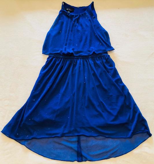 Vestido Fiesta Para Nenas Azul Brillo