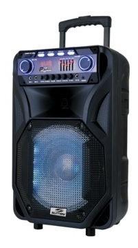 Caixa De Som Amplificada Bluetooth 2 Microfones Karaoke Prof