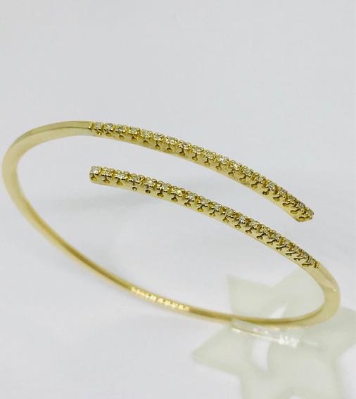Glitter Joias - Bracelete Pulseira Ouro 38 Pontos Diamantes