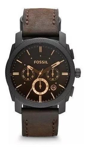 Relógio Fossil Masculino Machine Chronograph Ffs4656/z C/ Nf