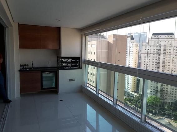 Excelente Aparto. Com 126m2 Amplo Living Para 2 Ambientes, Terraço Gourmet, 2 Suítes, 2 Vagas, Ar Condicionado, Lazer De Clube!!! - Ap4643