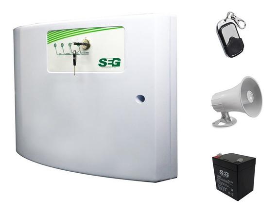 Kit Cerca Electrica Energizador Shocker Pila Control Sirena