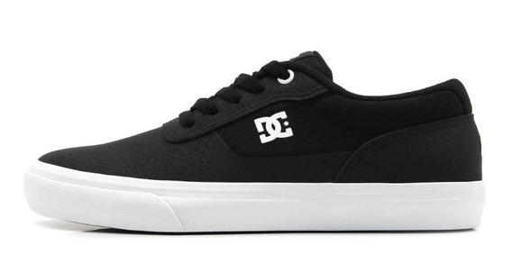 Tênis Dc Shoes Skate Preto Black Switch Le La Couro Casual Original Masculino Promoção Envio Imediato