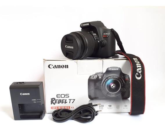 Canon Eos Rebel T7 + 18-55mm - 06 Meses De Uso