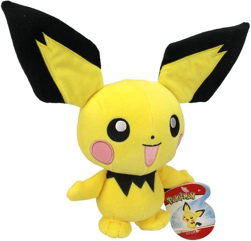 Imagem 1 de 3 de Pelúcia Pokémon Pichu 8'' - Wct Tomy