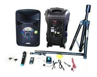 Parlante Amplificador Cafini Bluetooth Karaoke Cn-s2491fm-bt