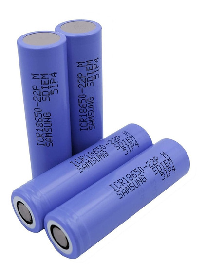 Kit 10 Bateria Samsung Original Li-ion Icr18650 3,7v 2200mah