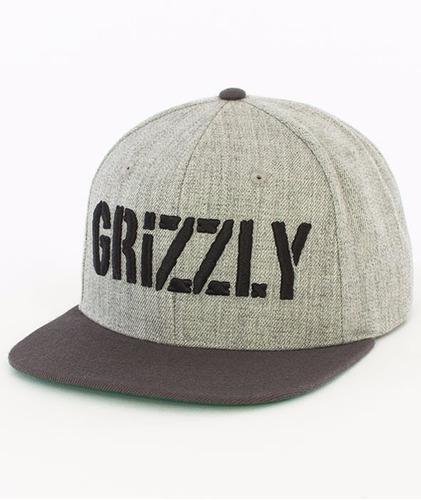 Imagem 1 de 4 de Boné Grizzly Supply  Snapback Stamp  Heather Grey Original