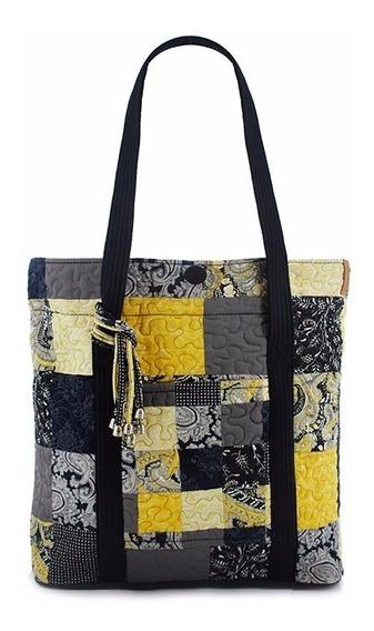 Bolsa Feminina Ombro Dakota Floral Patchwork Giulianna Fiori