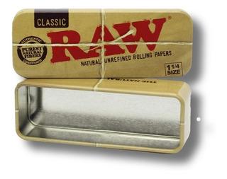 Caja Metálica Raw Para Preenrolados De 1 ¼ | Grow Alma Zen