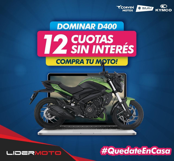 Nueva Bajaj Dominar 400 Ug En Lidermoto 12 Cuotas S/ Interés