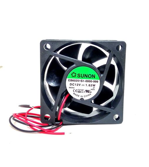 Turbina Fan Cooler 60x60mm 12v C/ Buje Ventilador Sunon