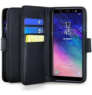 Samsung Galaxy J6 Billetera Estuche Estilo De Cuero De La Pu