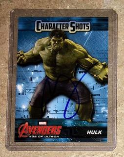 Tarjeta Firmada Por Mark Ruffalo Con Certificado Marvel Hulk