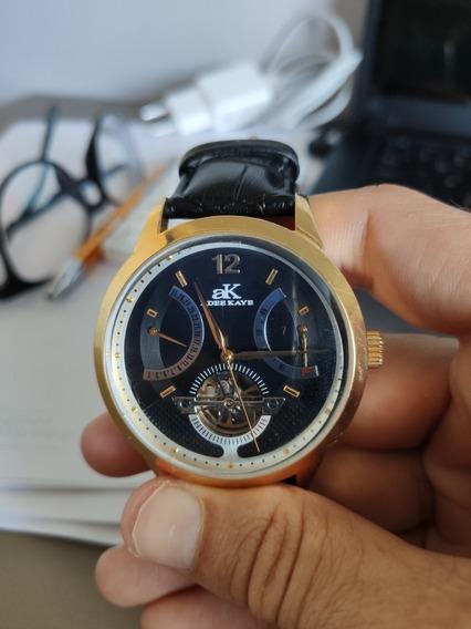 Relógio Adee Kaye Dourado Usado, Super Elegante!