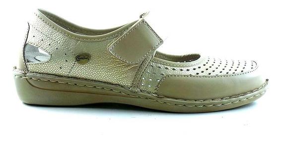 Chatita Cuero Mujer Cavatini Zapato Mocasin Goma - Mccha2994