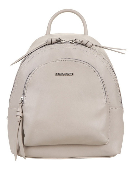 Mochila David Jones Beige Y Gris