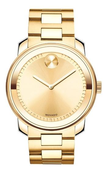 Relógio Movado Bold Metals Gold Dourado 42,5mm Bulova Tissot