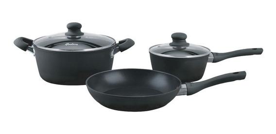 Bateria De Cocina Induccion Hudson 5 Piezas Total Black