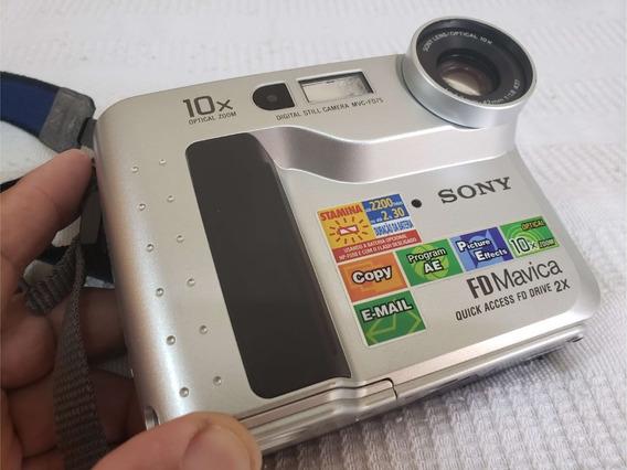 Câmera Fotográfica Sony Mavica Mvc-fd75 Sem Carregador