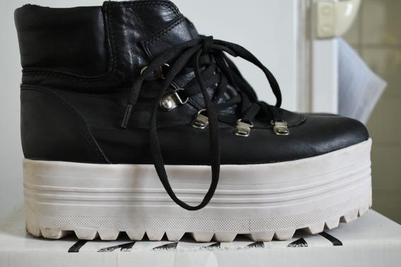 Borcego Zapato Con Plataforma Como Zapatilla Cómodos Amplio